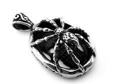 Edelstahl Amulett Anhänger Spinne Skull  Gothic / 041