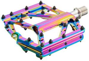 SupaCaz Orbitron DH Mountain Bike Platform Pedals OIL SLICK 367g Light MSRP $220