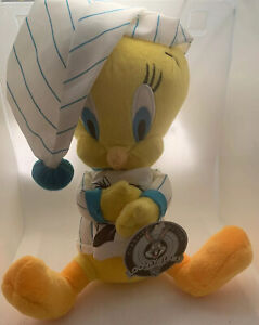 "12"" Pajama Tweety Bird Classic Collection Looney Tunes Plush Sylvester Pillow"