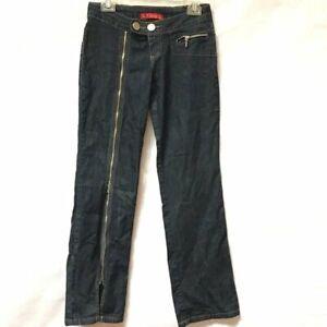 BRAZILIAN Brasil Jeans Zipper Sexy Size 30 Dark 6 Zip up the Leg Vintage Pants