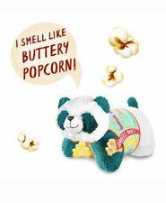"New Pillow Pets Scented Pet Popcorn Scent Panda 16"" Stuffed Animal Blue Travel"