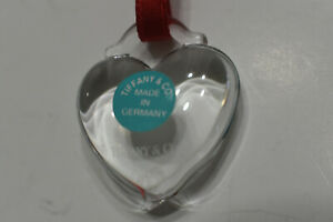 Tiffany & Co Elsa Peretti Rock Crystal Hand Carved Open Heart Necklace