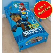 PAW PATROL SPY JUNIOR TODDLER BOYS DUVET COVER SET + QUILT + PILLOW