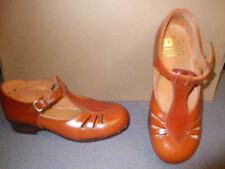 GIRLS TAN  LEATHER BUCKLE SANDAL SHOES SIZE 6 (INFANT)FITTING E