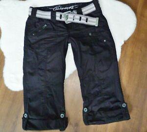 Süße ♥♥ Edc by ESPRIT ♥♥ PLAY 7/8 Cargo Shorts Gr.40 mit Gürtel schwarz TOP !