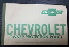 Corvette Factory GM Original Owner Protection Policy Manual 1960 Part # 3770020