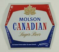 Molson Canadian Lager Beer Label  Molson's Capilano Brewery Vancouver BC Canada
