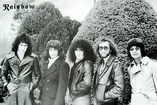"RAINBOW ""B&W GROUP SHOT"" POSTER FROM ASIA - Hard Rock, Heavy Metal Music"