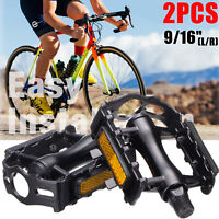 9/16-Inch Bike Pedals Mountain Road Bicycle Flat Platform MTB Cycling Aluminum