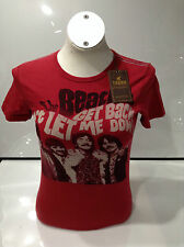 The Beatles Ladies Don't Let Me Down T-shirt Red Medium