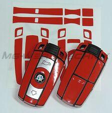 1B_Schlüssel-Dekor Aufkleber BMW 1er 3er 5er 6er 7er Z4 X1 X5 X6 M rot glänzend