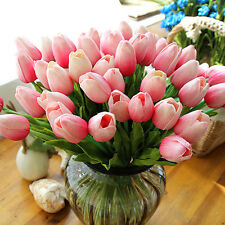 10pcs Tulip Artificial Flower Latex Real Touch Wedding Home Bouquet Decor Eyeful