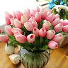 10pcs Tulip Artificial Flower Latex Real Touch Wedding Home Bouquet Decor Eyeful