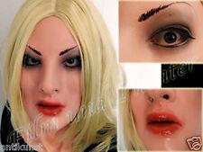 DOMINANT EMILIA MASK - Realistic female latex, Transgender, Second Skin, Rubber