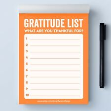 Gratitude List Notepad: What Are You Thankful or Grateful For In Quarantine?
