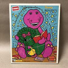 Playskool Vintage Barney Puzzle, Baby Bop's Bedtime Story, 328-01, 6 Pieces!