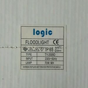 SON 70w SODIUM VAPOUR WEATHERPROOF FLOODLIGHT 230v ENERGY SAVING