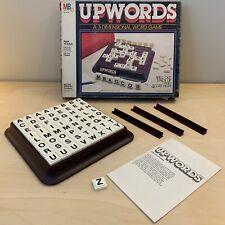 Vintage 1983 UPWORDS Milton Bradley 3-Dimensional Word Board Game Complete Tiles