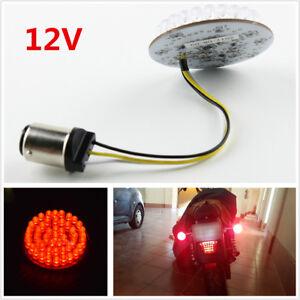 For Sportster Dyna Softail 12V BA15S 1156 LED Turn Signal Rear Light Red