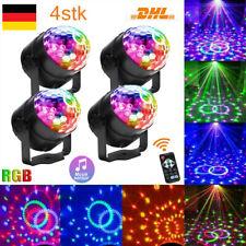 4x Disco Lichteffekt LED Discokugel DJ Party RGB Bühnenbeleuchtung Fernbedienung