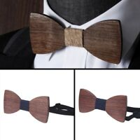 Men Bow Tie Suit Necktie Wood Bowknot Classic Business Party Father's Day gift
