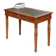 Bureau dessus en cuir vert - 1 tiroir - Bureau classique - Produit artisanal