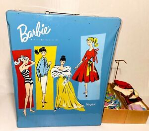 Mattel 1961 Barbie Ponytail Carrying Case Clothes Accessories------ W34