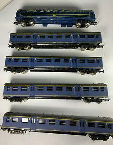 """Nederlandse HO Spoorwegen """"NS"""" Blue Passenger Car M Lima & Jouef LOT x5 cars"""
