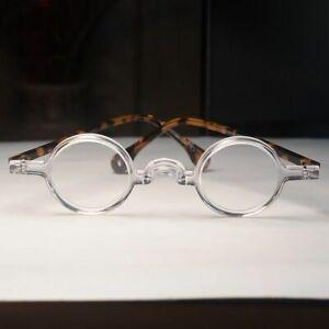 Mens round eyeglasses vintage crystal solid acetate glasses frame RX eyewear