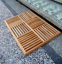 Grade-A Teak Wood Basket Weave Floor Bath Spa Shower Door Mat Outdoor Garden New