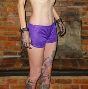 Soffe Purple Jersey Material Running Shorts S short shorts athletic sporty