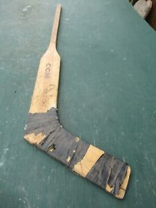 "VINTAGE  Wooden 45""  Long Hockey Stick Goalie CCM"