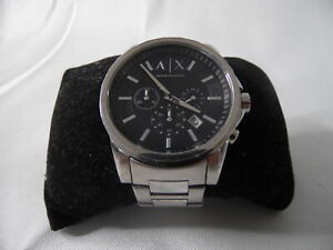 Armani Exchange 45mm Chronograph Stainless Steel AX2084 Mens Watch RF5187