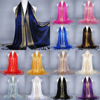 Cotton Tassel Long Hijab Pashmina Shawl Scarf Scarves Stole Wrap Fashion Women !