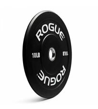 NEW! Rogue Fitness Pair 10lb (20lbs) Echo V2 Black Bumper Weight Plate Olympic