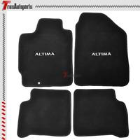 Fit 02-06 Nissan Altima 4Dr 4PCS Black Floor Mats Nylon Carpets Rear & Front Set