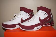 Nike Shox Elite II TB Mens Basketball Shoes - White/Maroon - Size 8.5