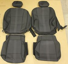 15-17 F150 Crew Cab Truck Black Cloth OEM Factory Seat Covers Take Off 2017