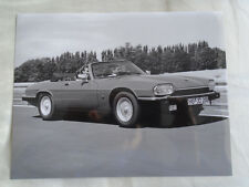 Jaguar XJS Cabriolet V12 press photo brochure c1994