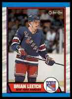 1989-90 O-PEE-CHEE BRIAN LEETCH RC NEW YORK RANGERS #136