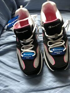 Champion Margaret Women's Sneakers Black Gray Pink Memory Foam Shoe Size 11W NWT