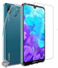 Housse etui coque silicone gel fine Huawei Y5 (2019) + film ecran - TRANSPARENT