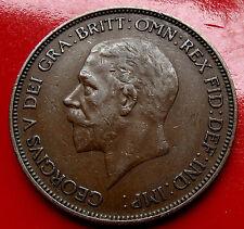 XF Sharp Brown Toned Nice 1935 English Penny of King George V,