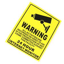 Security Camera System Warning Sign Sticker Decal Surveillance 200mmx250mm