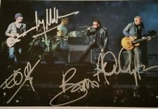 U2 Personally Autographed/Signed Photo (8X10) With Coa and #d Hologram