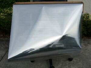 """30""""x 10 FT TWO WAY MIRROR FILM REFLECTIVE SILVER SIDED WINDOW TINT SUPER PRIVACY"""