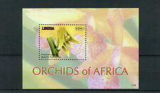 Liberia 2011 MNH Orchids of Africa 1v S/S II Flowers Flora Beautiful Polystachya