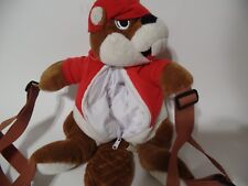 "Buc-ee's Beaver Texas Gas Station Mascot Plush backpack 13"""