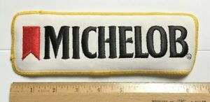 """Michelob Beer Logo Black White Yellow Embroidered 8.5"""" Long Back Patch Badge"""