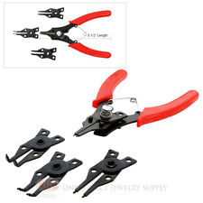 Snap Ring Pliers 4 Interchangeable Head Multi Use Clamps Opening Plier